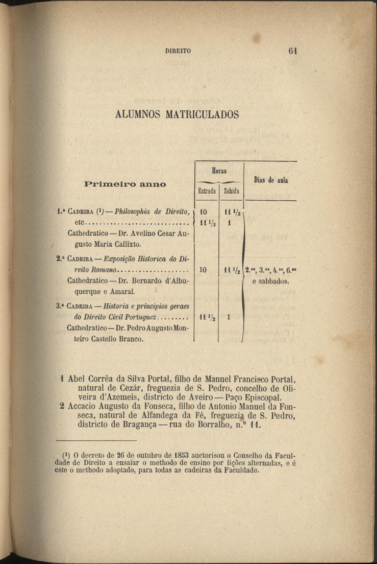 Universidade de Coimbra, Biblioteca Geral. Annuario da